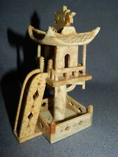 More details for very decorative vintage hand carved chinese soapstone pagoda  ~ oriental