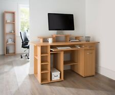Alphason Office New York Beech Computer Desk Workstation Home Office AW12004