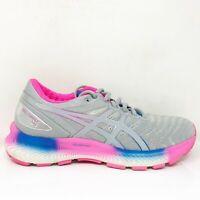 Asics Womens Gel Nimbus Lite 1012A667 Gray Pink Blue Running Shoes Size 9.5