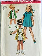 New ListingVintage 1970 Sewing Pattern Simplicity Child Size 5