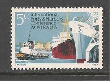 Australia #460 (A182) Mint Nh - 1969 5c Melbourne Harbor Scene