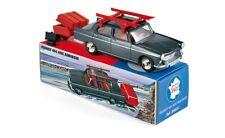 #C80001 - Norev Peugeot 404 with Ski & Trailer