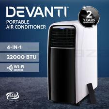 Devanti Portable Air Conditioner Mobile Fan Air Cooler 4-In-1 WIFI AC 22000BTU