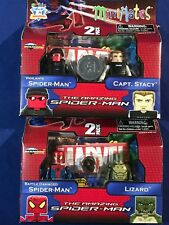 New AMAZING SPIDER-MAN MINIMATES Two 2-Pack Figures LIZARD Vigilante CAPT. STACY