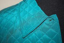 New Diane Von Furstenberg Women Teal Coat Quilted Jacket Turquoise Large 12 14