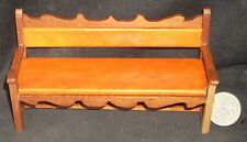 Mexican Hacienda Bench Couch Furniture 1:12 #MAF2234 Miniature Hand Carved