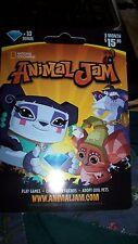 National Geographic ANIMAL JAM 3 month Membership 10 DIAMOND CARD Game Card new