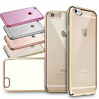 NEW SOFT ELECTROPLATED TPU SILICON CASE COVER FOR APPLE IPHONE 5 6 6PLUS{GM