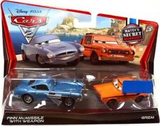 Disney Cars Cars 2 Finn McMissile with Weapon & Grem Diecast Car 2-Pack