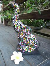 Mosaic ELEPHANT Table/Feature Lamp  (multi coloured tiles)
