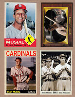 Stan Musial lot of 4: Rookie year/Color TV/Final Season/with Ted Williams 🔥
