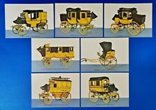 More details for set of 7 vintage 1966 germany postcards, german mail coaches of the 1800s po3