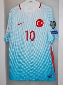 Match worn shirt Turkey national team WC 2018 Galatasaray Barcelona Spain Turan