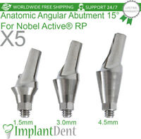 5 Anatomic Angular Abutment 15° For Nobel Biocare, Active Hex RP, Dental Implant