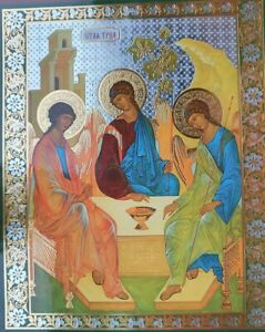 Icon Russian Christian Orthodox RELIGEOUS CHURCH Troitca Andrew Rublev