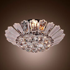 New Modern Semi FushMount Crystal Clear Ceiling Chandelier Pendant Lamp Lighting