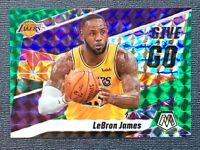 2019-20 Lebron James Panini Mosaic Give and Go Mosaic Green Prizm #8 Lakers SP