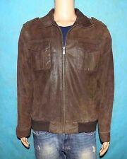 blouson MAC DOUGLAS en cuir marron taille L