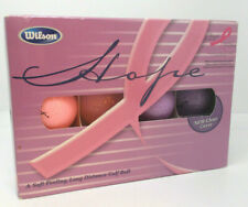 12 Wilson Hope Breast Cancer Research Golf Balls 1 Dozen Pink Purple Clear Cover