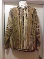 TUNDA SWEATER SZ XL Multi-Color Coogi Style