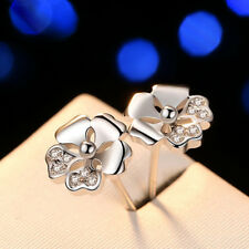 Lovely Zircon Blossom Jewelry Classic Plum Blossoms Flower Earrings Stud