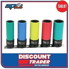 "SP Tools 1/2"" Square Drive 5 Piece Wheel Nut Impact Socket Rail - SP20390"