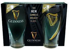 Guinness Harp Logo Pint Glasses pack of 2. Licensed