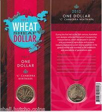 "2012 $1 Wheat Sheaf Mint Mark ""C"" Canberra Mint Gallery Press"