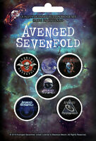 AVENGED SEVENFOLD BUTTONSET BADGES SET ANSTECKERSET # 1 THE STAGE PINS