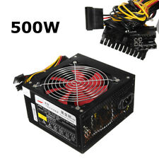 500W watt CPU Alimentatore Computer PC 20+4 Pin ATX PCIE SATA 12V Power Supply