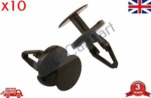 10 x Clips Front Bumper Wheel Arch Lining Splash Guard Fits Ford Mondeo Transit