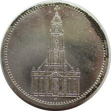 El tercer reich 5 Reichsmark 1934 a, garnisonskirche, plata
