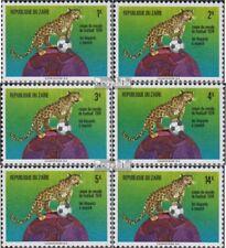 zaïre zaïrois 484-489A (complète edition) neuf avec gomme originale 1974 footbal