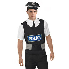 Mens Policeman Uniform Kit costume Fancy Dress UK Police Officer Halloween