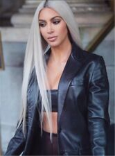 Kim Kardashian Charming Smooth Long Straight Graceful Synthetic Hair Women Wigs