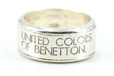 Silber Ring UNITED COLORS OF BENETTON 925 Sterling Silber Größe 55 Ref 3191