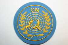 UN UNITED NATIONS U.N. OFFICER'S BERET BADGE BULLION WIRE #2