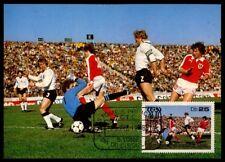 S.TOME MK 1978 FUßBALL-WM DEUTSCHLAND - ÖSTERREICH MAXIMUMKARTE MAXI CARD m802