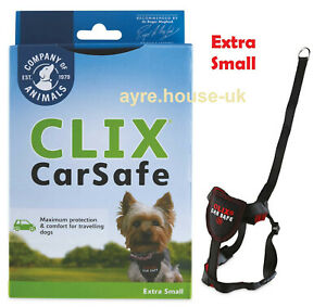 CLIX Car Safe Dog Harness - Seat Belt or Walking - Extra Small XS