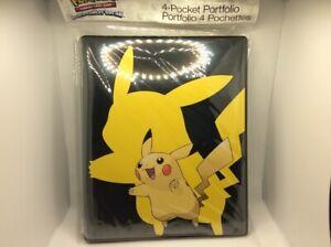 Ultra PRO Pokemon TCG 4-Pocket Pikachu Portfolio Binder. B3G1 Free!