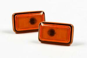 VW Golf MK1 MK2 Polo Orange Side Indicators Repeaters Set Pair OEM Hella