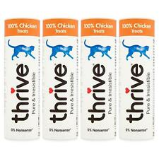 4 x thrive Cat 100% Chicken Treat Snack Tube 25g, Real Natural Freeze Dried Meat