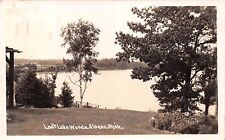 ALPENA MICHIGAN LOST LAKE WOODS~REAL PHOTO POSTCARD 1941