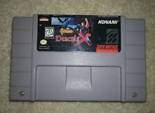 Castlevania Dracula X rare Super Nintendo SNES Konami game clean! One owner!