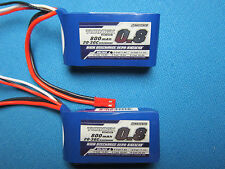2 TURNIGY 800mAh 2S 7.4V 20C LIPO BATTERY JST MINI EPP EDF AIRPLANES QUAD HELI