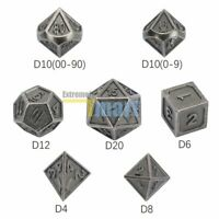 7Pcs/Set Metal Polyhedral Dice DND RPG MTG Role Playing and Tabletop Game