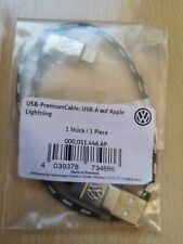 GENUINE VW USB APPLE LIGHTNING DATA CHARGER CABLE LEAD 000051446AP