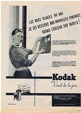 PUBLICITE ADVERTISING 054 1956 KODAK Pellicule couleur sur papier