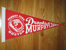 "Rare DROPKICK MURPHY'S Fenway Park 9/8-9 2011 Concert Tour 24"" Pennant RED SOX"