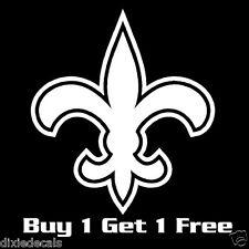 """3"""" New Orleans Saints Fleur de Lis Vinyl Decals Window Stickers S01"""